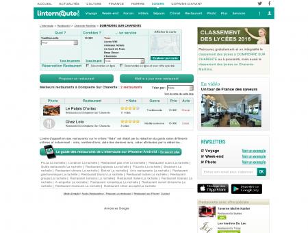 Restaurant Dompierre Sur Charente : Le guide...