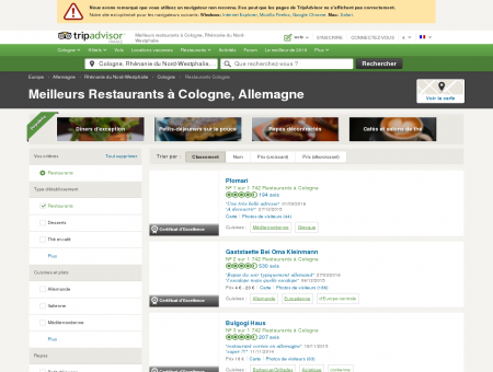 Les 10 meilleurs restaurants à Cologne -...