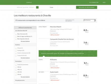 Restaurants Chaville - Meilleurs restaurants de Chaville.
