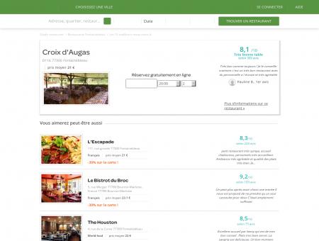 Restaurant Croix d'Augas   croix-d-augas.lafourchette.com