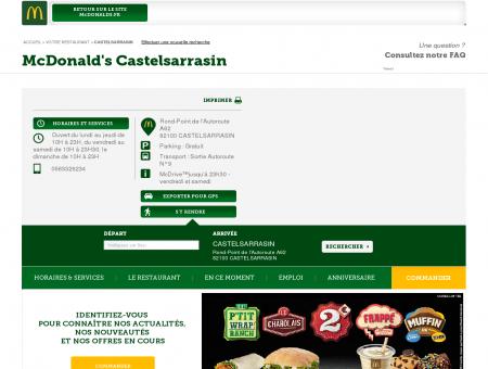 Bienvenue dans votre restaurant McDonald's...