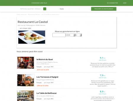 Restaurant Le Castel   RestaurantLeCastel.LaFourchette.com