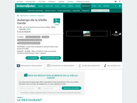 Auberge de la Vieille Garde, restaurant de...