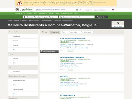 Les 10 meilleurs restaurants à Comines...
