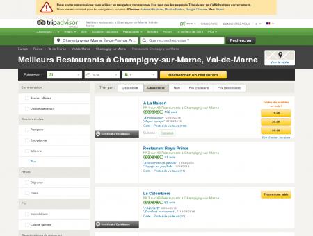 Les 10 meilleurs restaurants à Champigny-sur...