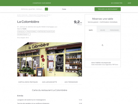 Restaurant La Colombière à Champigny-sur...