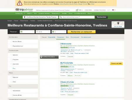 Les 10 meilleurs restaurants à Conflans-Sainte...