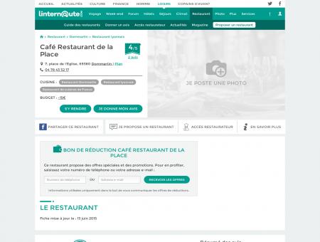 Café Restaurant de la Place, restaurant de...