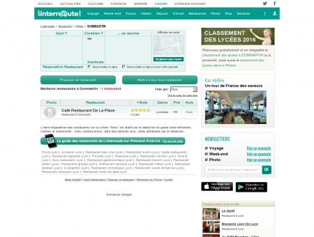 Restaurant Dommartin : Le guide des...
