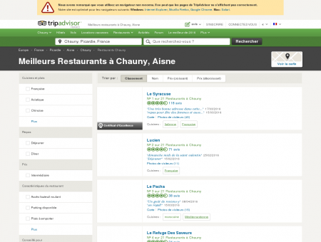 Les 10 meilleurs restaurants à Chauny -...