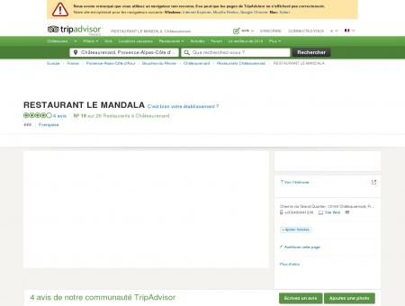 RESTAURANT LE MANDALA, Châteaurenard -...