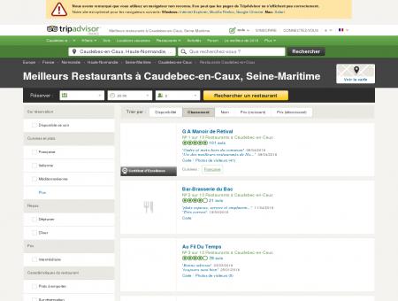 Les 10 meilleurs restaurants à Caudebec-en...