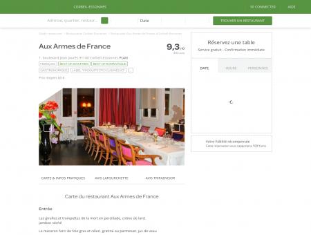 Restaurant Aux Armes de France à Corbeil...