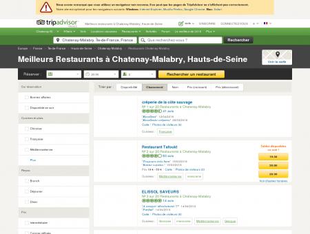 Les 10 meilleurs restaurants à Chatenay...