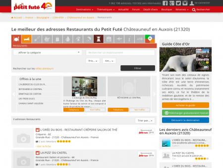 Restaurants Châteauneuf en Auxois, le...