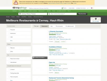 Les 10 meilleurs restaurants à Cernay -...