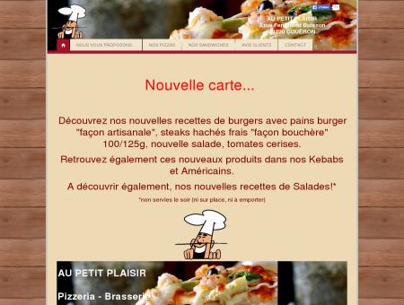 Au Petit Plaisir : Pizzeria Brasserie à COUËRON