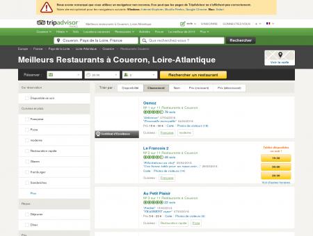 Les 10 meilleurs restaurants à Coueron -...