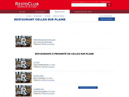 Restaurant Celles Sur Plaine (88110) -...