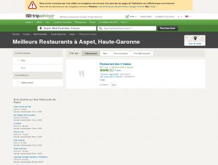 Les meilleurs restaurants à Aspet - TripAdvisor
