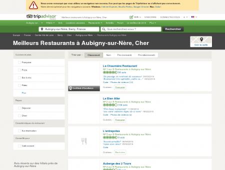 Les 5 meilleurs restaurants à Aubigny-sur...
