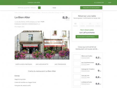Restaurant Le Bien Aller à Aubigny-sur-Nère -...