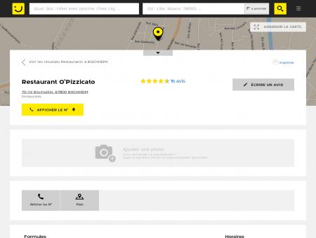 Restaurant O'Pizzicato Bischheim (adresse,...