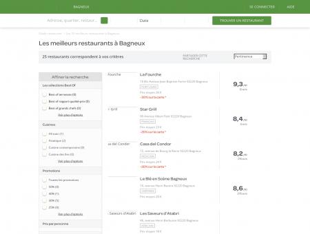 Restaurants Bagneux - Meilleurs restaurants de Bagneux.