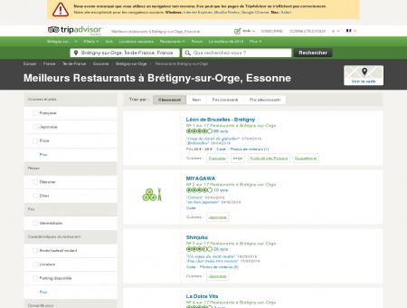 Les 10 meilleurs restaurants à Brétigny-sur...