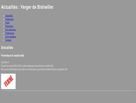 Actualités : Verger de Bishwiller