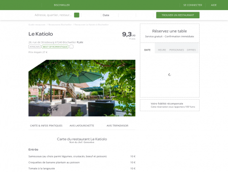 Restaurant Le Katiolo à Bischwiller - menu,...