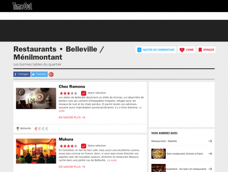 Belleville | Restaurants à Belleville &...