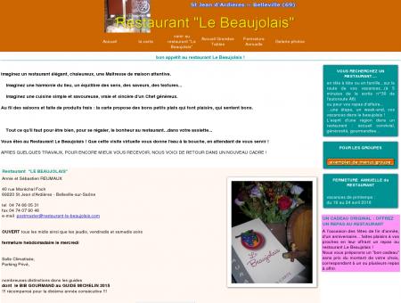 Restaurant Le Beaujolais Belleville-Saint...