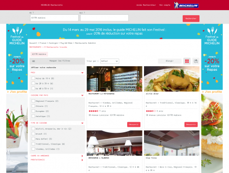 Restaurants 63170 Aubière - MICHELIN...