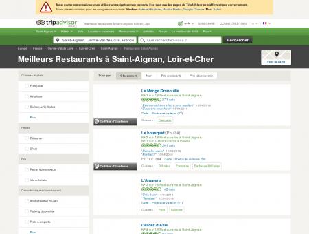 Les 10 meilleurs restaurants à Saint-Aignan -...