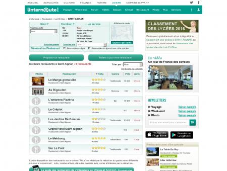 Restaurant Saint Aignan : Le guide des...