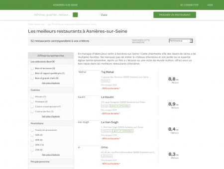 Les 10 meilleurs restaurants à Asnières-sur...