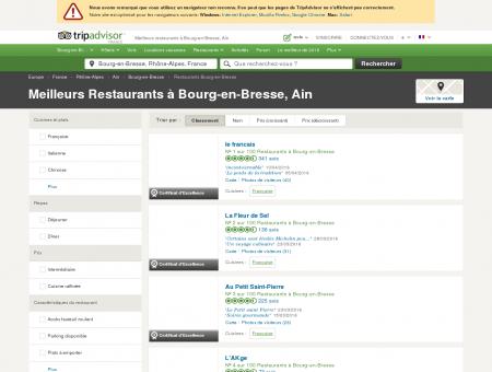 Les 10 meilleurs restaurants à Bourg-en...