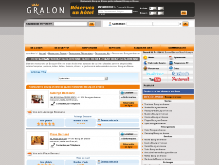 Restaurants Bourg-en-Bresse guide...
