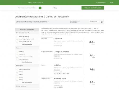 restaurant canet