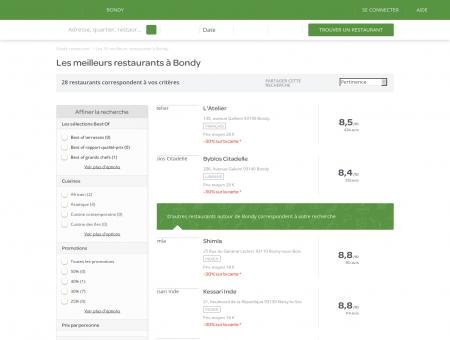 Restaurants Bondy - Meilleurs restaurants de Bondy.