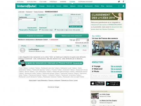 Restaurant Barbazan Debat : Le guide des...