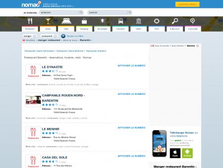 Restaurant Barentin : réservations, horaires,...