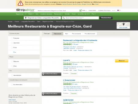 Les 10 meilleurs restaurants à Bagnols-sur...