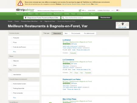 Les 5 meilleurs restaurants à Bagnols-en-Foret...