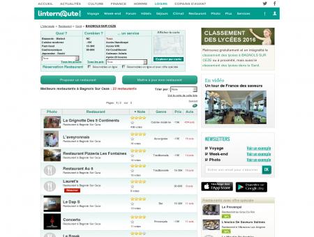 Restaurant Bagnols Sur Ceze : Le guide des...