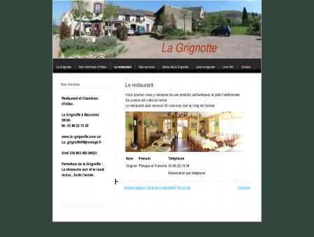 Le restaurant - La Grignotte : Restaurant et...