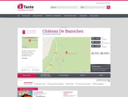 Restaurant Château De Bazoches à Bazoches