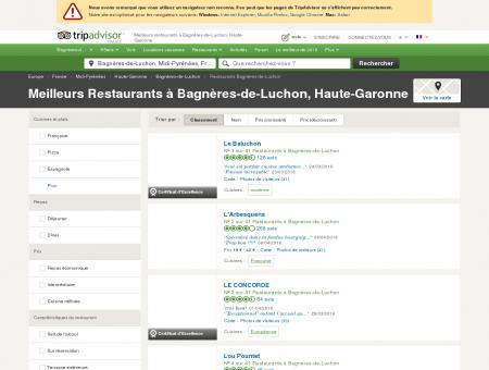 Les 10 meilleurs restaurants à Bagnères-de...