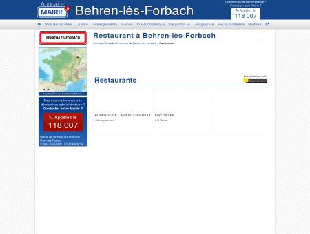 Restaurant Behren-lès-Forbach, la Mairie de...